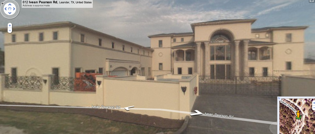 Street View of Furniture Mogul's Mega Mansion