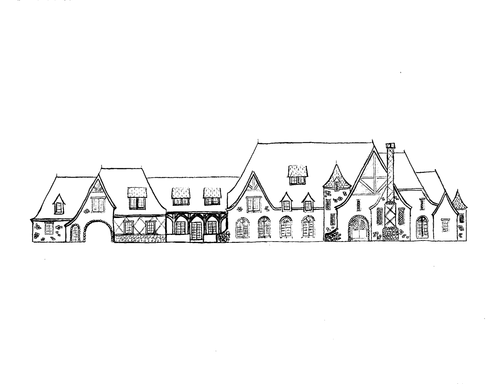 Two More Mansion Drawings done by a Homes of the Rich reader
