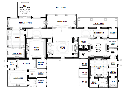 An impressive mega mansion made on powerpoint homes of for Mega mansion floor plans