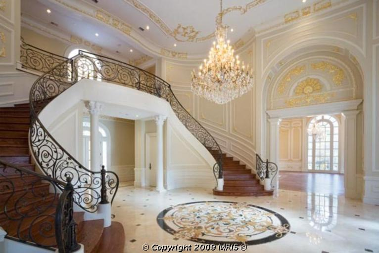 Beautiful Mansion Foyers : Newly built potomac mega mansion re listed homes of the