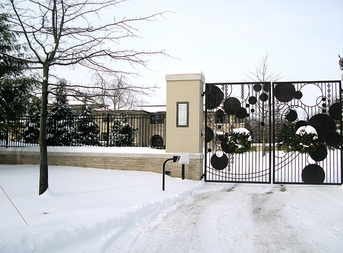 LeBron James's front gate | Homes of the Rich – The #1 Real Estate ...