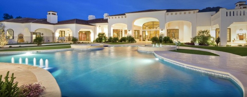 Pics are finally up of the 35,000 square foot Paradise Valley Mega Mansion
