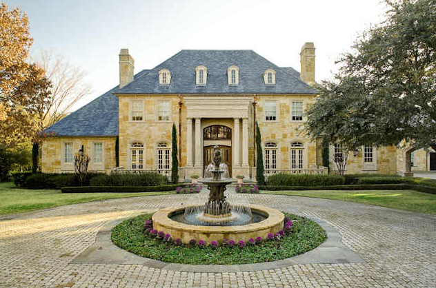 This French Manor Is Located At 9339 Hathaway Street In Dallas TX What Stands Out Most To Me About House The Beautiful Yellow Brick Exterior