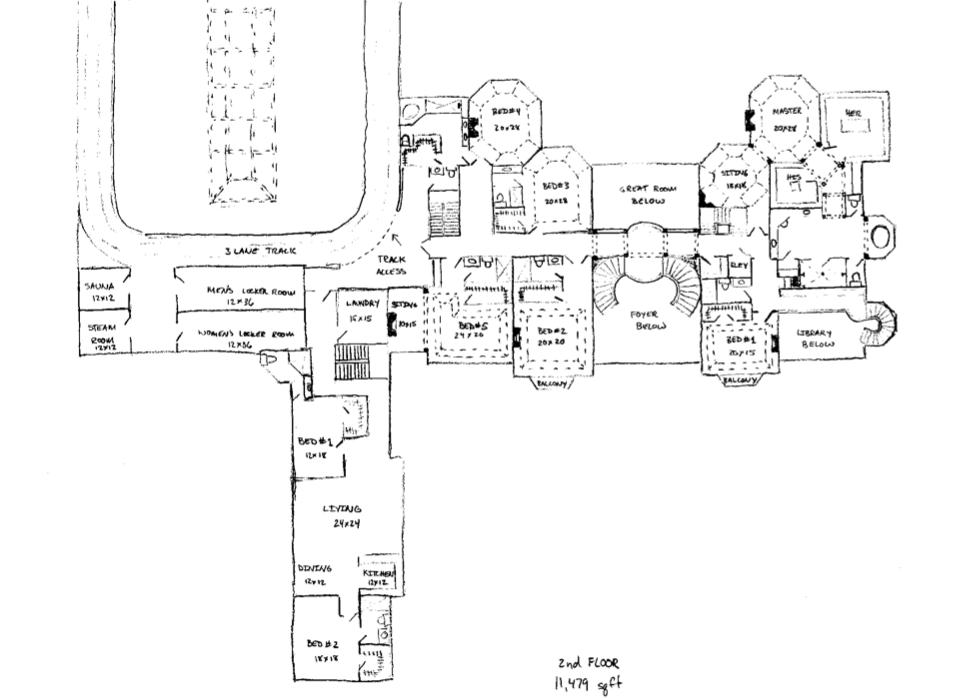 Floor Plans to James Mega Mansion Design Homes of the Rich