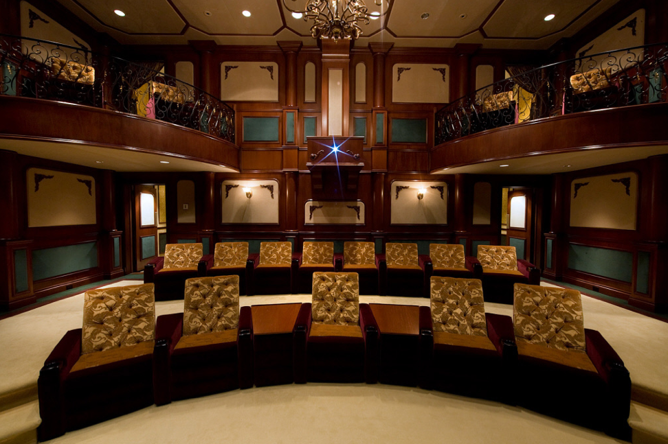 Spectacular 2 Tier Home Theater Homes Of The Rich