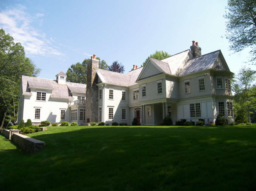 Country Colonial New Construction in New Canaan