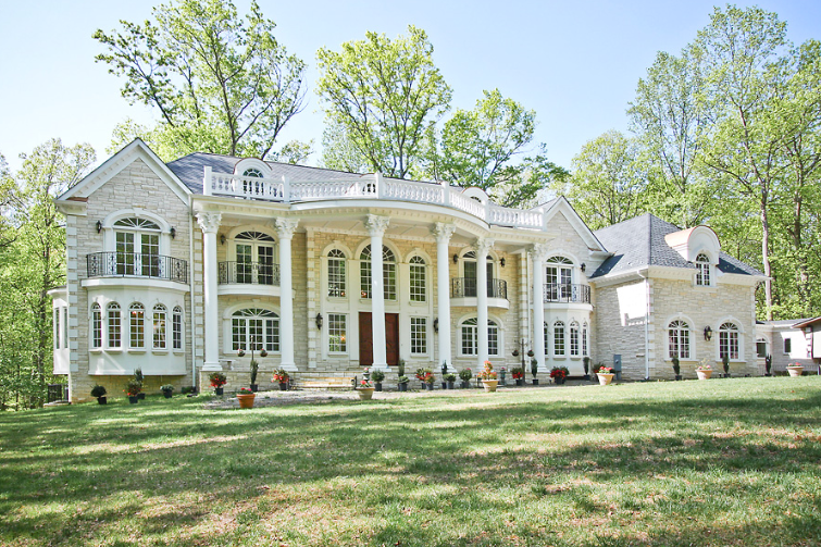 Newly constructed french inspired mansion in great falls for Dc home for sale