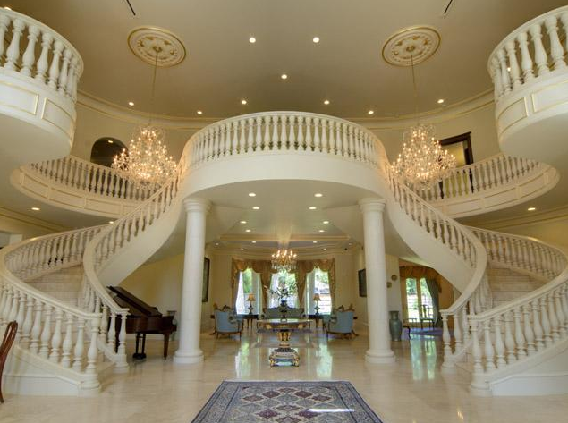 Newly built mediterranean mansion in houston homes of for Beautiful house music