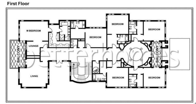 Multi million dollar homes floor plans Million dollar home plans