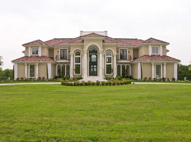 23 000 square foot mediterranean style mansion in texas for Mediterranean style mansion