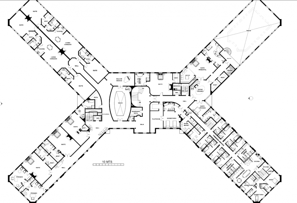 A homes of the rich reader s super mansion floor plans hotr for X shaped house plans