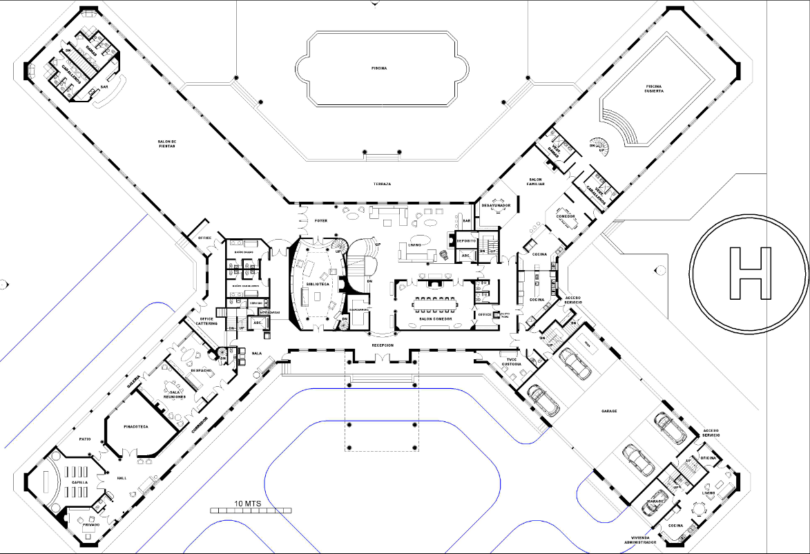 A homes of the rich reader s super mansion floor plans for Huge mansion floor plans