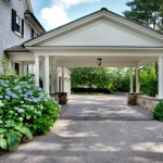 Breathtaking traditional colonial in westport ct homes for Porte cochere vs carport
