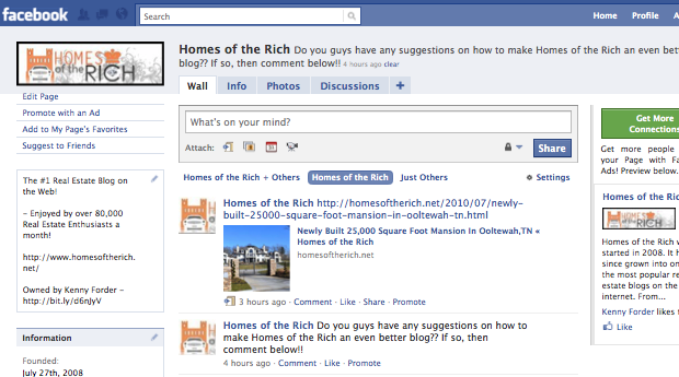 Connect with Homes of the Rich on Facebook!