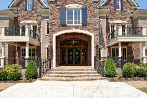 Exquisite brick stone mansion in franklin tn homes of for Exquisite stone