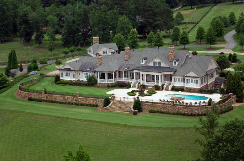 Monticello Inspired Lakefront Estate In Milton, GA