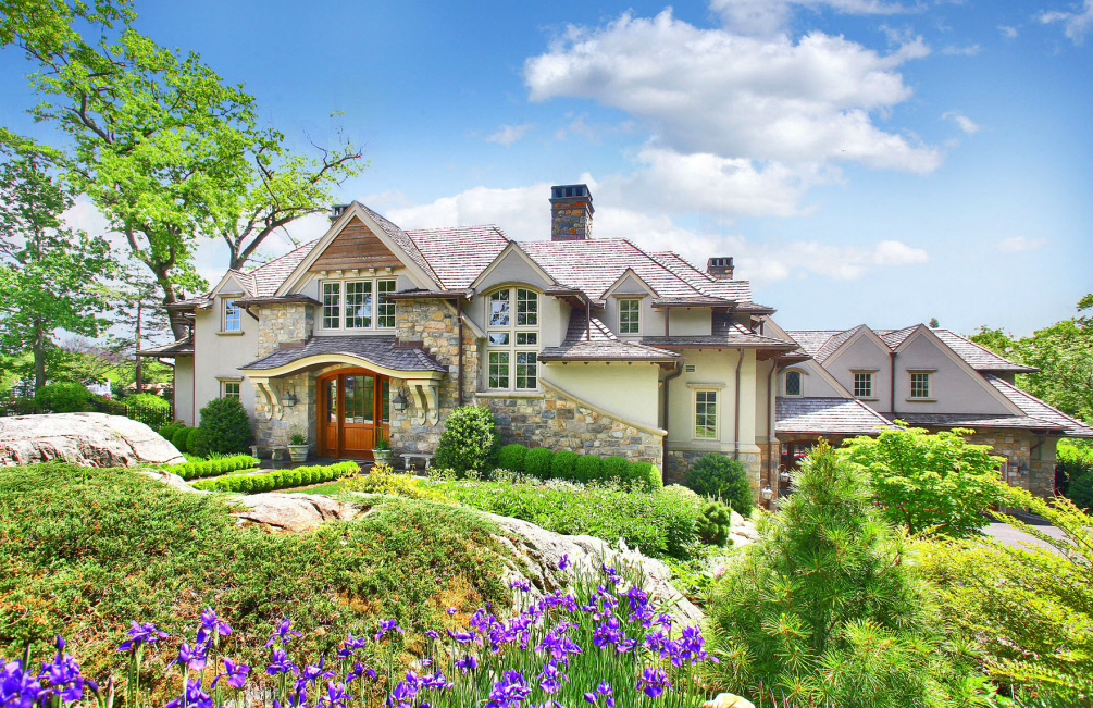Stunning French Country Waterfront Estate In Darien Ct on French Country Estate Home Plans