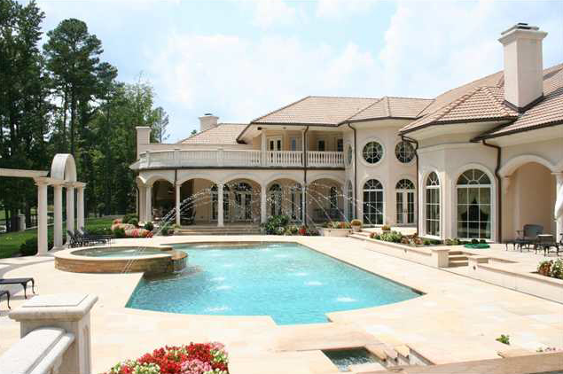 Mediterranean Lake Front Estate In Raleigh, NC