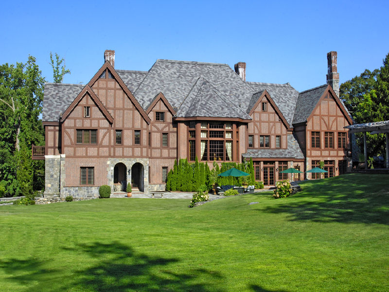 Magnificent Stone And Brick English Manor In Greenwich Ct
