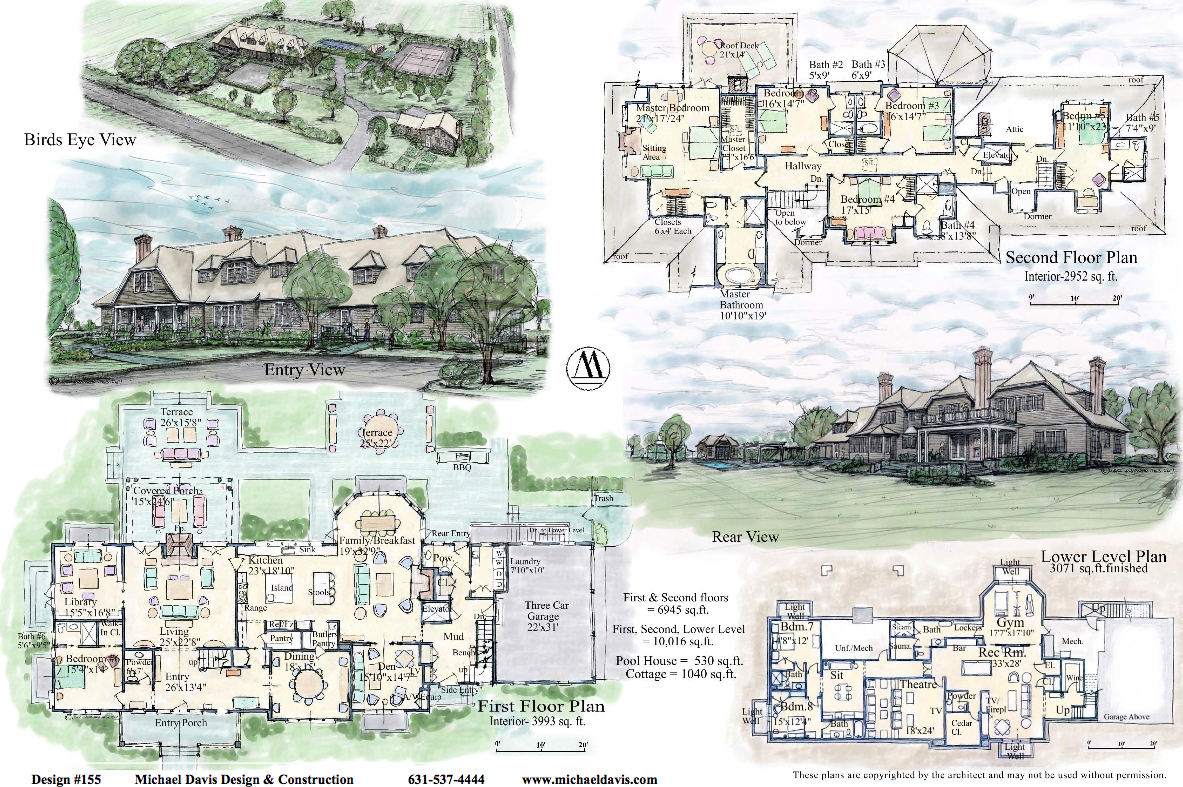English country house under construction in sagaponack ny for Estate blueprints