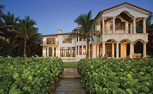 European style ocean to intracoastal estate in hillsboro for European mansions for sale