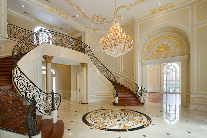 Foyer Staircase Quest : Maryland homes of the rich real estate