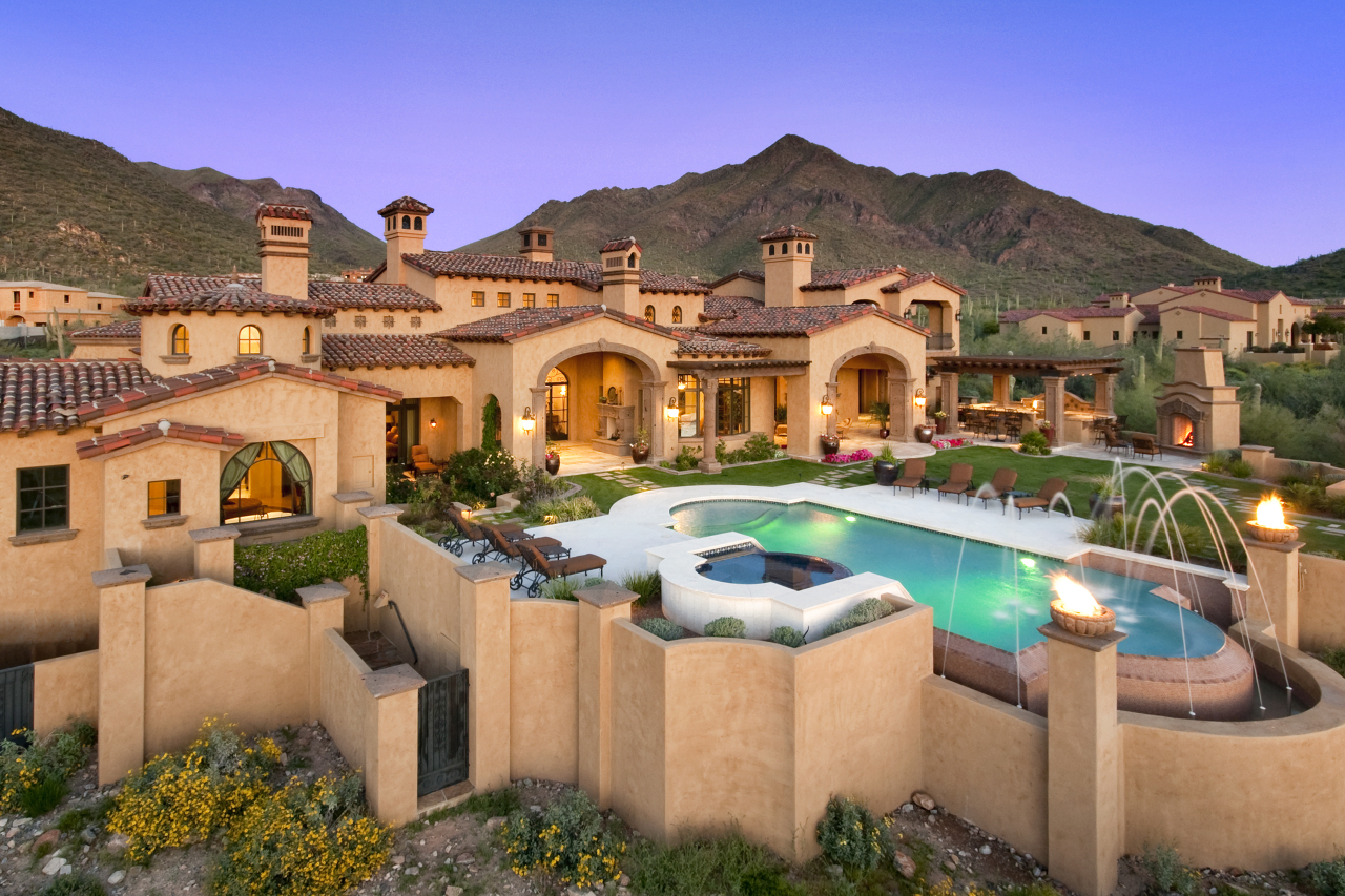 Newly built spanish colonial estate in scottsdale az for Luxury house