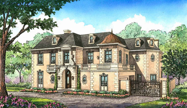 Elegant New French Chateau In Houston Tx Homes Of The Rich
