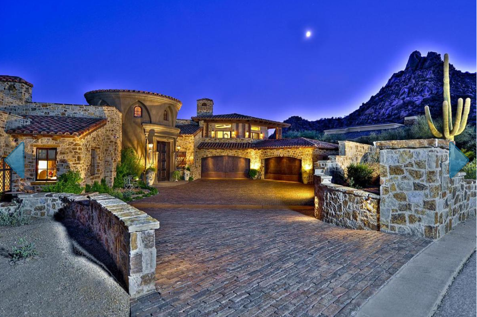 Tuscan Style Estate With 12 Car Garage In Scottsdale Az