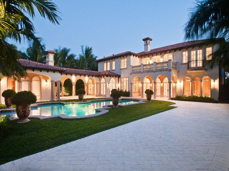 Mediterranean Revival Estate In Palm Beach Fl Homes Of