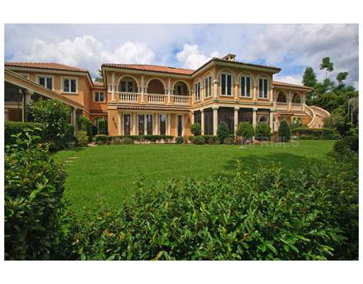 Grand lakefront mansion under foreclosure in windermere for Foreclosed mansions in florida