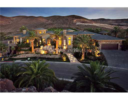 Single Story Mansion With 10 Car Garage In Henderson Nv Homes Of The Rich