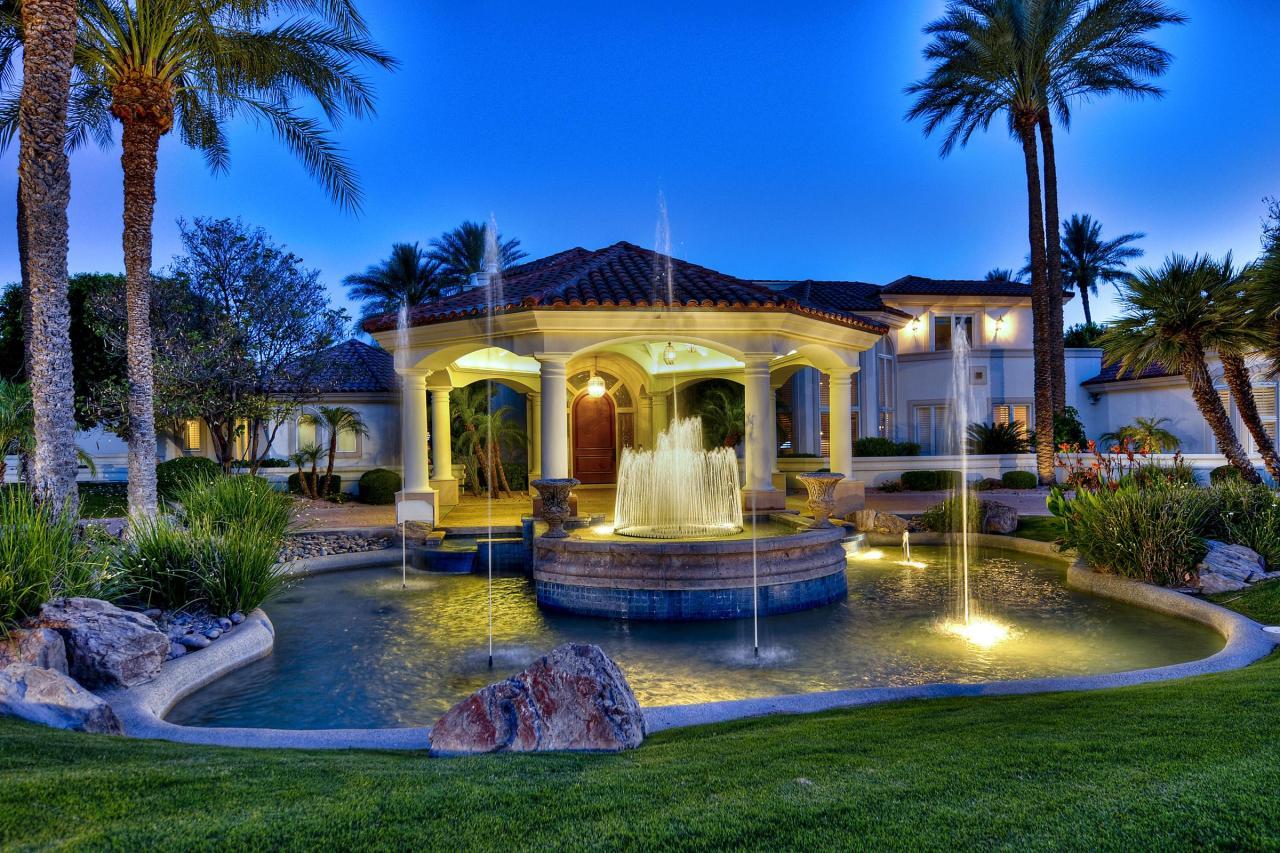 phoenix az estate with resort style backyard homes of the rich
