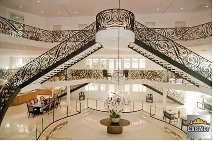 Newly built studio city mansion with huge 3 story foyer for Brinkley manor apartments floor plans