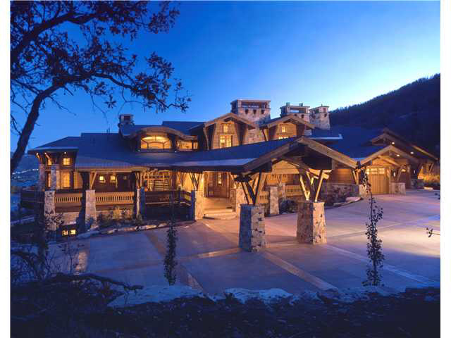 Beautiful log mountain estate in park city ut homes of for Beautiful homes and great estates pictures