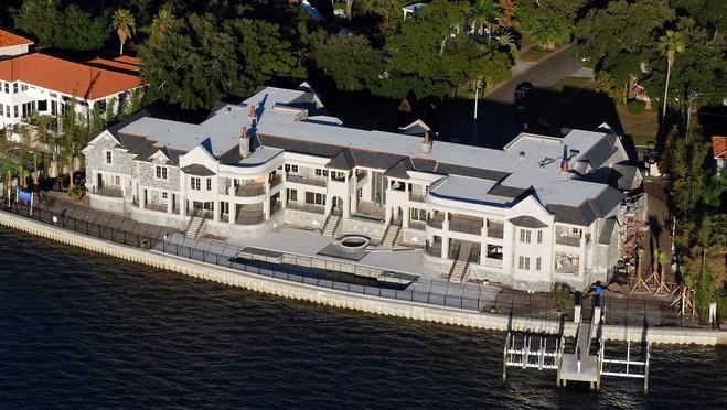 Derek jeter s tampa mega mansion completed homes of the rich for Mega mansions in florida