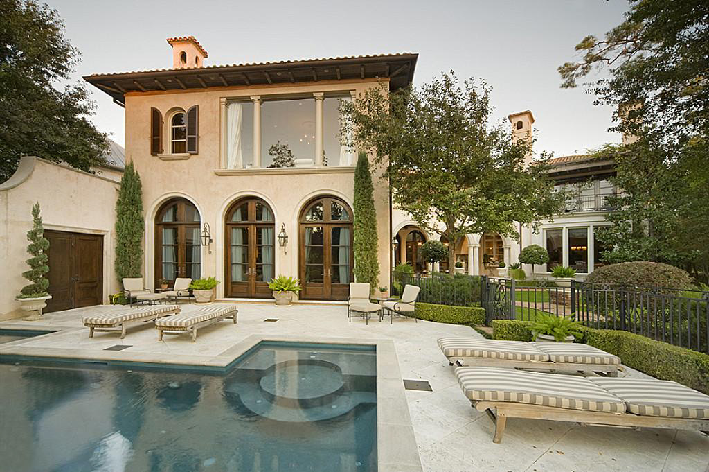Mediterranean home in the memorial park section of houston for Mediterranean style house