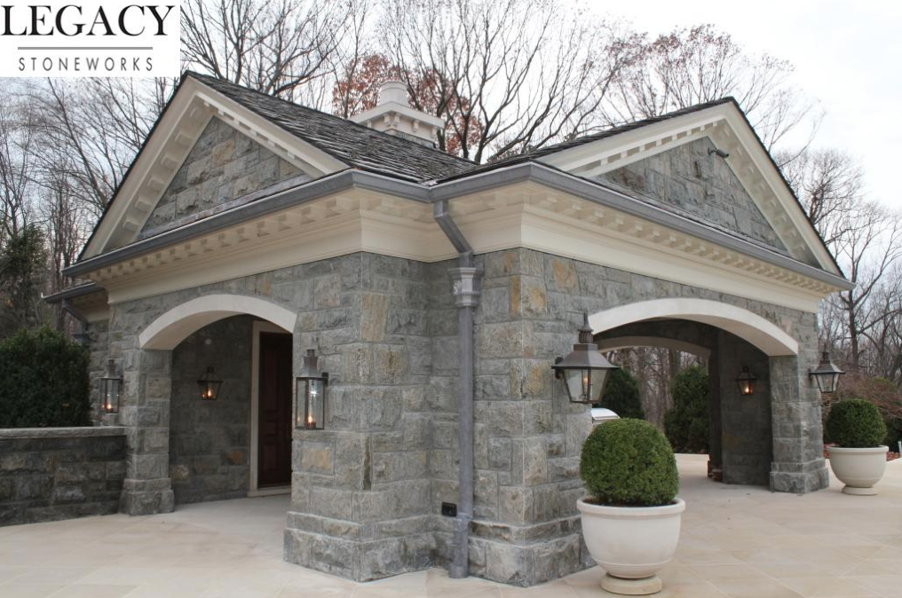 Exterior Pictures Of The $68 Million Stone Mansion