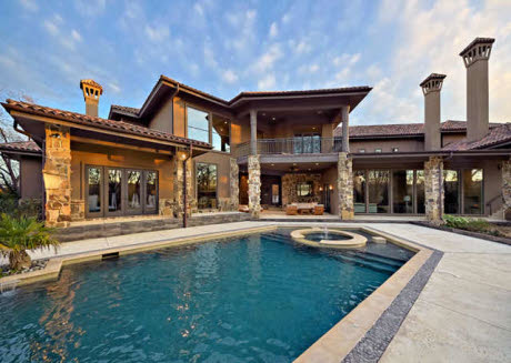 Modern mediterranean mansion in westlake tx homes of for Contemporary mediterranean homes