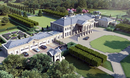 Proposed 40 000 square foot estate in surrey england for 50000 dollar house