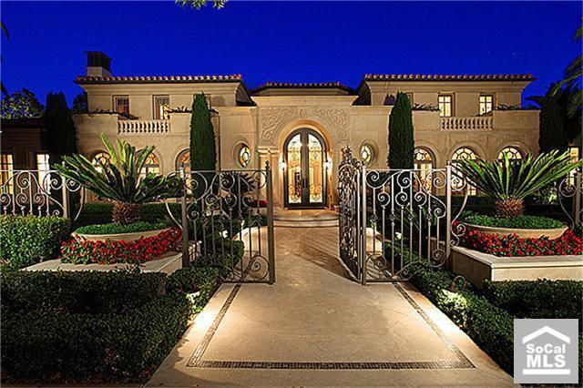 Newly listed mediterranean estate in newport coast ca for Rich homes in california