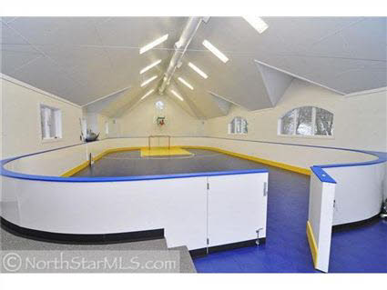 Lakeshore Estate In Orono, Minnesota With Mini Indoor Hockey Arena