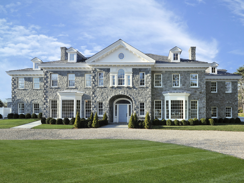 Newly built georgian colonial in greenwich ct homes of for Homes of the rich