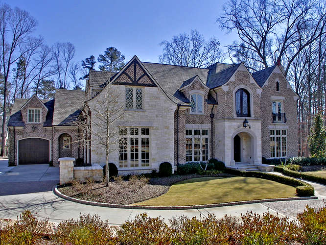 Traditional European Style Mansion In Suwanee Ga Homes