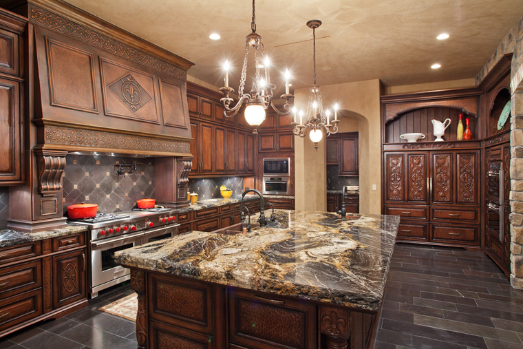 Old world italian inspired estate in las vegas nv homes for Rich kitchen designs