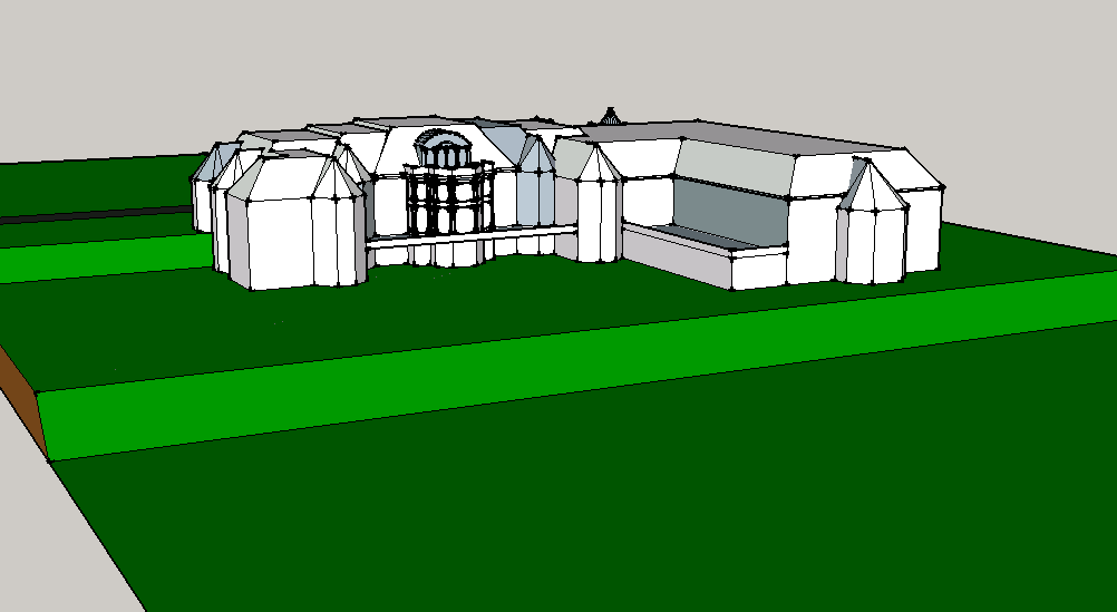 A Homes of the Rich Reader's Google Sketchup Mansion