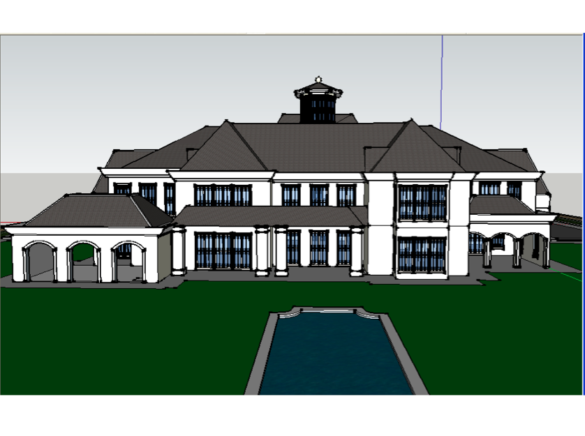 Another homes of the rich reader s google sketchup mansion for Homes of the rich floor plans