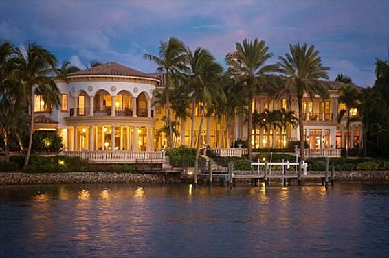 Newly listed waterfront mansion in jupiter fl homes of for Mega mansions in florida