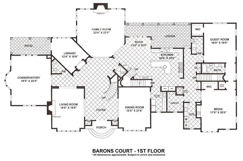 Million dollar homes floor plans for Million dollar home plans