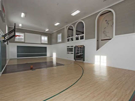 Zionsville indiana mansion with indoor basketball court for Home indoor basketball court cost